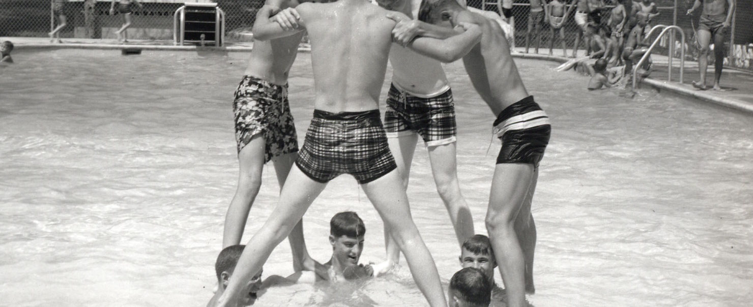 1960s Boys in Pool